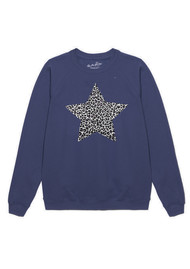 ON THE RISE Leopard Star Jumper - Navy