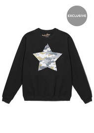 ON THE RISE Exclusive Camouflage Star Jumper - Black