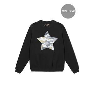 Exclusive Camouflage Star Jumper - Black