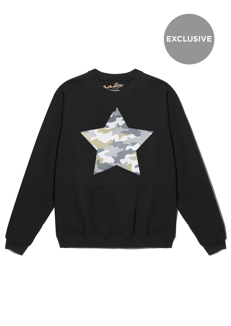 ON THE RISE Exclusive Camouflage Star Jumper - Black main image