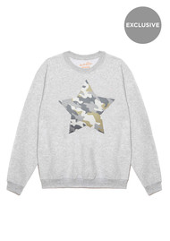 ON THE RISE Exclusive Camouflage Star Jumper - Grey