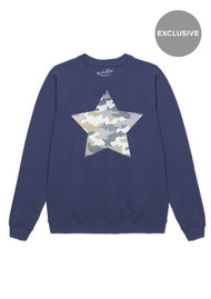 ON THE RISE Exclusive Camouflage Star Jumper - Navy