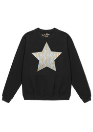 ON THE RISE Zebra Metallic Star Jumper - Black
