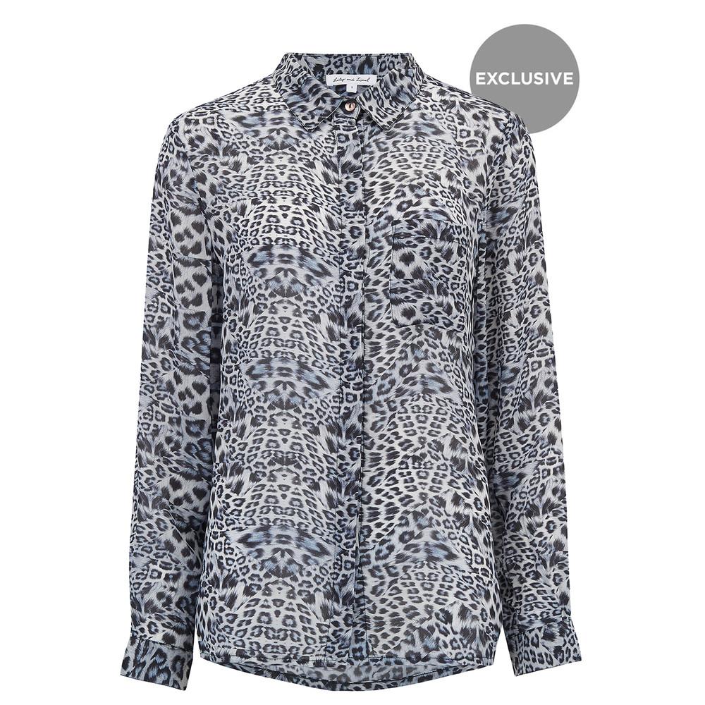 Exclusive Daria Shirt - Blue Leopard