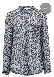 Lily and Lionel Exclusive Daria Shirt - Blue Leopard