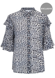 Exclusive Frankie Shirt - Blue Leopard