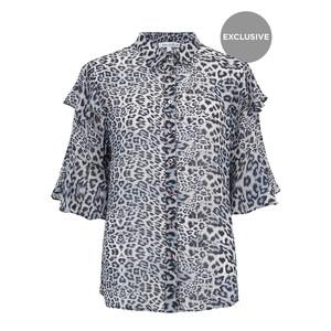 Exclusive Frankie Shirt - Blue Leopard