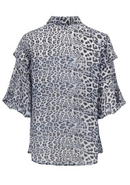 Lily and Lionel Exclusive Frankie Shirt - Blue Leopard