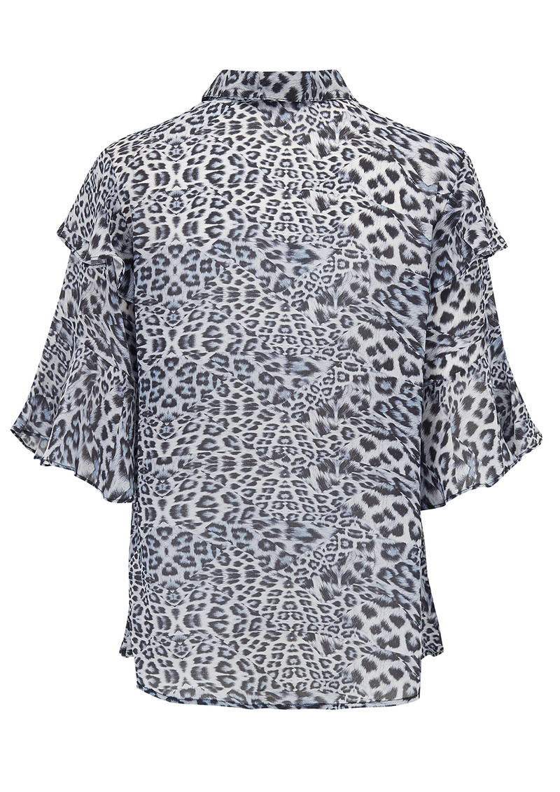Lily and Lionel Exclusive Frankie Shirt - Blue Leopard main image