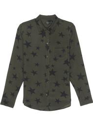 Rails Kate Silk Shirt - Sage Black Star