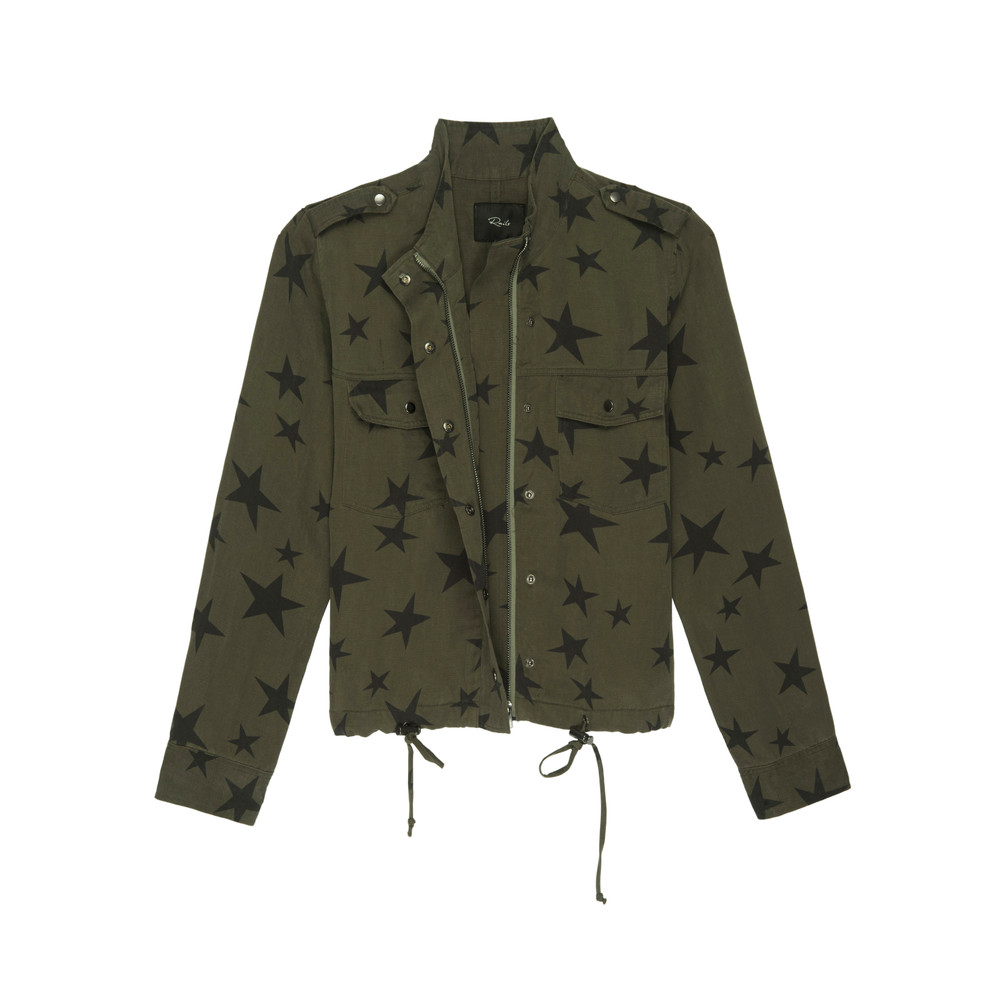 Collins Jacket - Sage Black Star