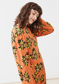 Twist and Tango Peggy Blouse - Orange Flower