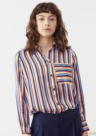Twist and Tango Nathalie Striped Shirt - Orange