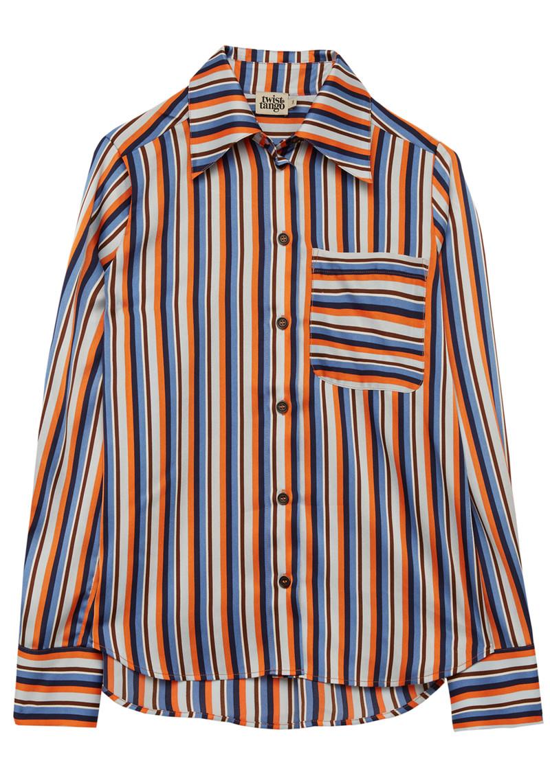 Twist and Tango Nathalie Striped Shirt - Orange main image