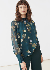 Twist and Tango Eden Blouse - Green Botanical