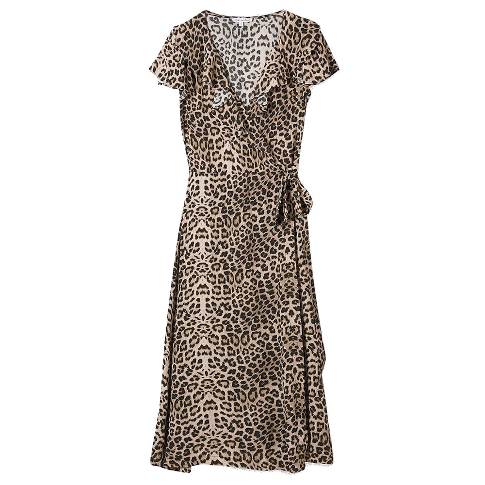Trixie Wrap Dress - Safari