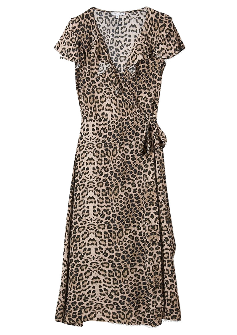 Trixie Wrap Dress - Safari main image