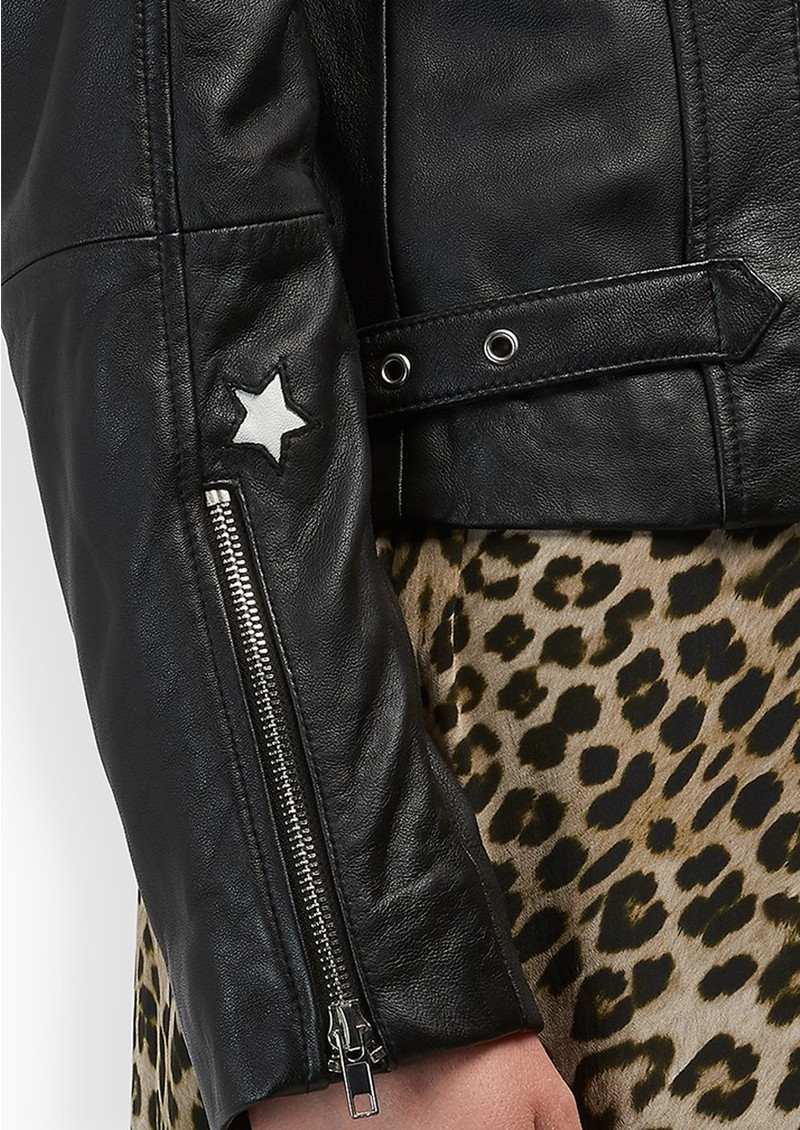 Lily and Lionel Zadie Leather Jacket - Black main image