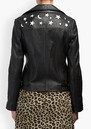 Lily and Lionel Zadie Leather Jacket - Black