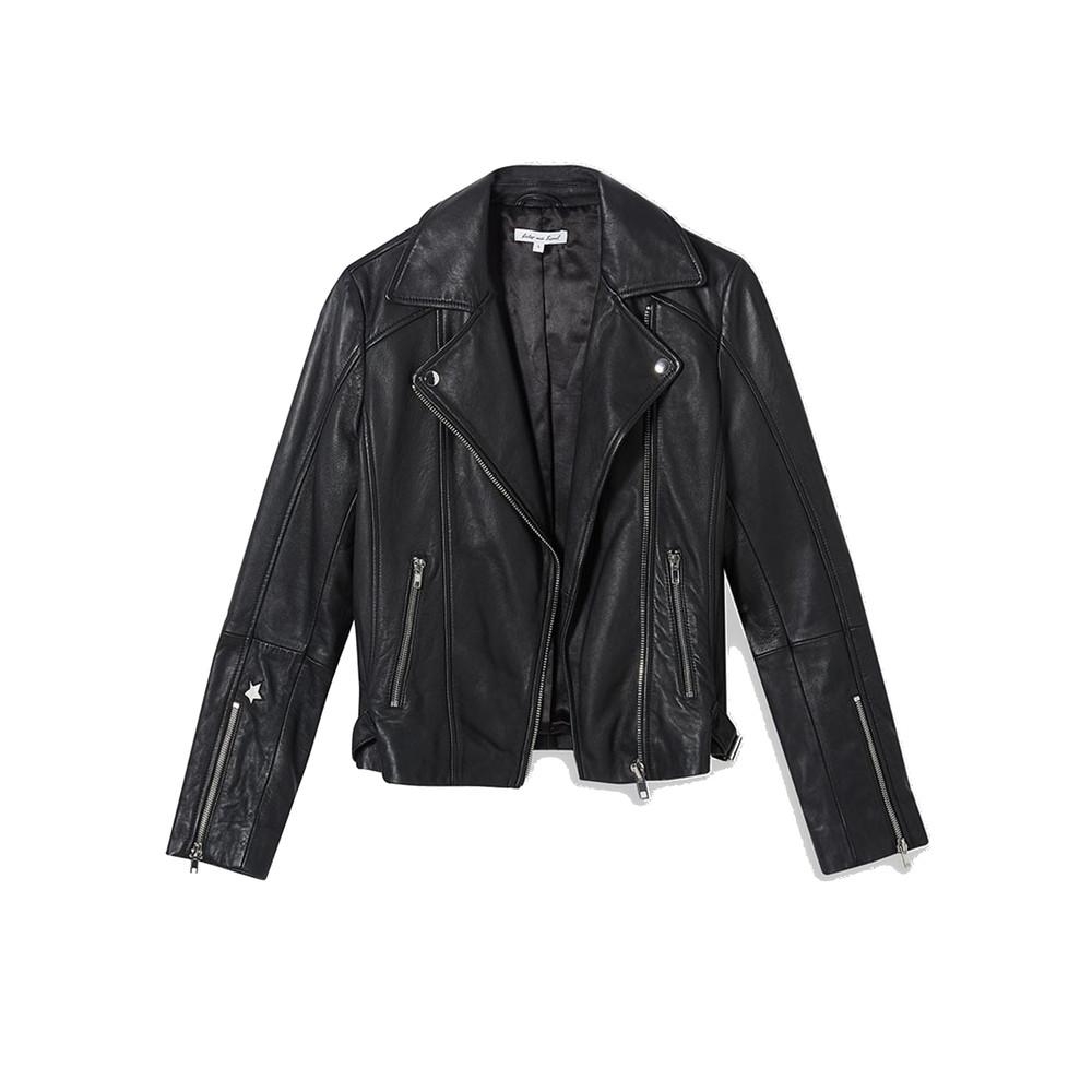 Zadie Leather Jacket - Black