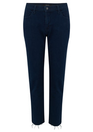 J Brand Sadey High Rise Slim Straight Jeans - Rhythm Destruct