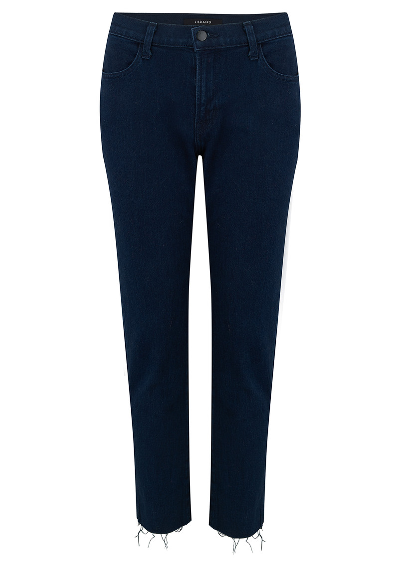 J Brand Sadey High Rise Slim Straight Jeans - Rhythm Destruct main image