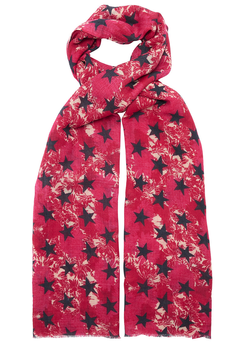 UNIVERSE OF US Stars Floral Wool Scarf - Pink main image