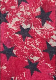 UNIVERSE OF US Stars Floral Wool Scarf - Pink