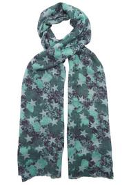 UNIVERSE OF US Stars Floral Wool Scarf - Tidepool
