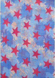 UNIVERSE OF US Stars Floral Wool Scarf - Blues
