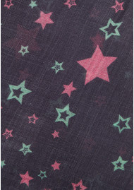 UNIVERSE OF US Stella Star Wool Scarf - Navy