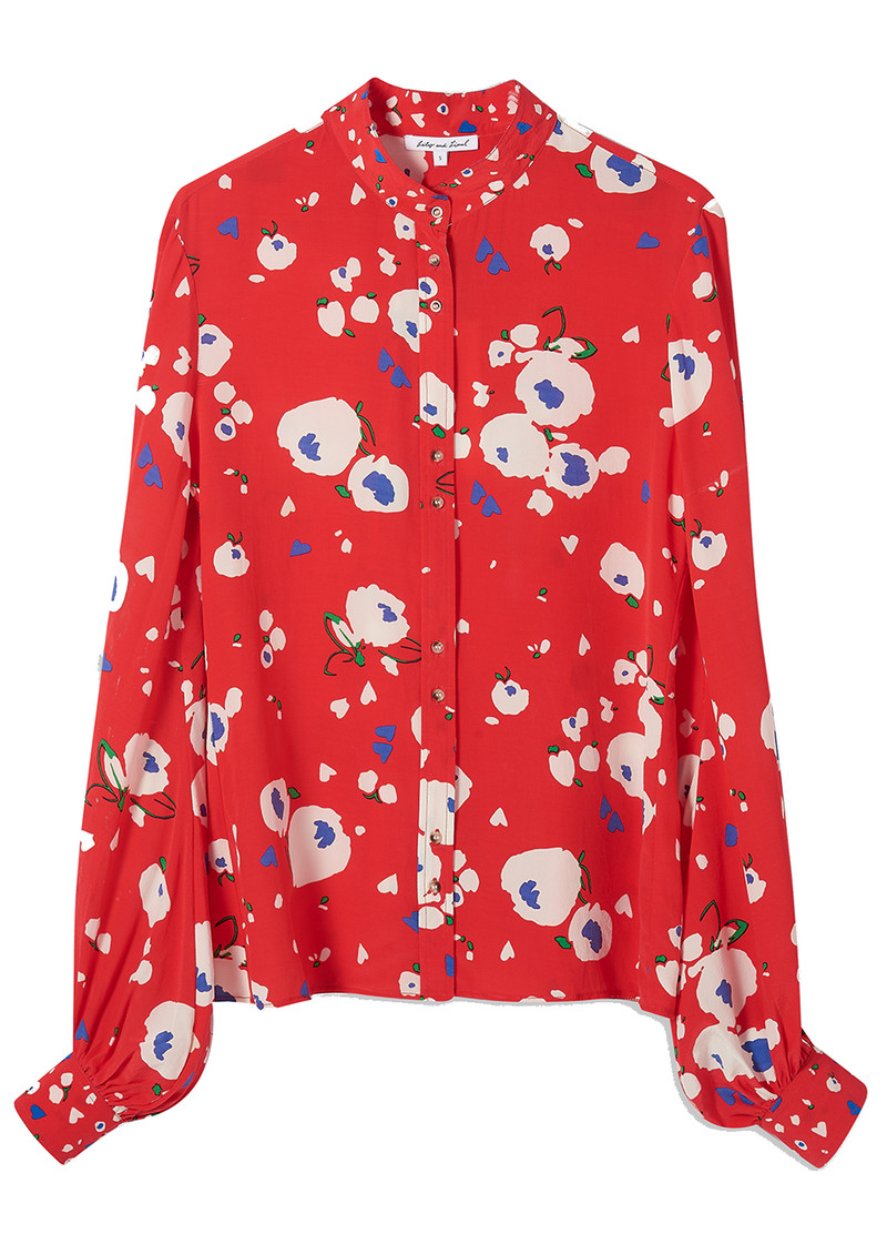 Lily and Lionel Maddox Silk Shirt - Love Heart Floral main image