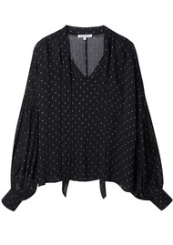 Lily and Lionel Jess Blouse - Metallic Black
