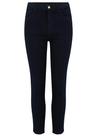 J Brand Ruby High Rise Cropped Cigarette Jeans - Bluebird