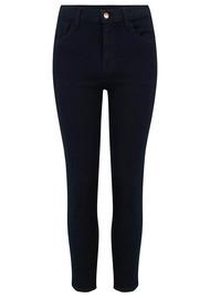 J Brand Ruby High Rise Cropped Cigarette Jeans - Bluebird