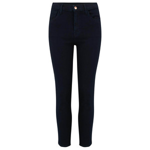 Ruby High Rise Cropped Cigarette Jeans - Bluebird