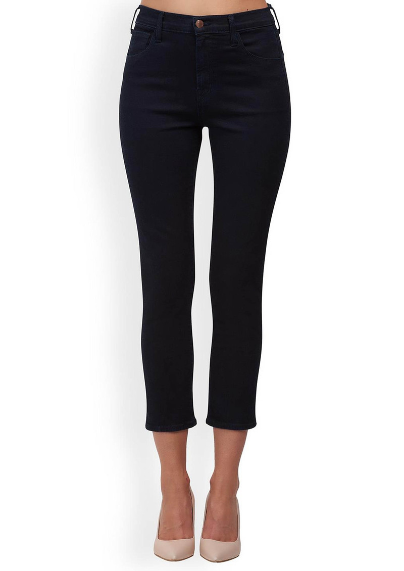 J Brand Ruby High Rise Cropped Cigarette Jeans - Bluebird main image