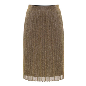Malvina Pleated Skirt - Gold