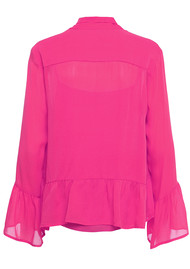 CUSTOMMADE Pauline Silk Blouse - Pink Glow