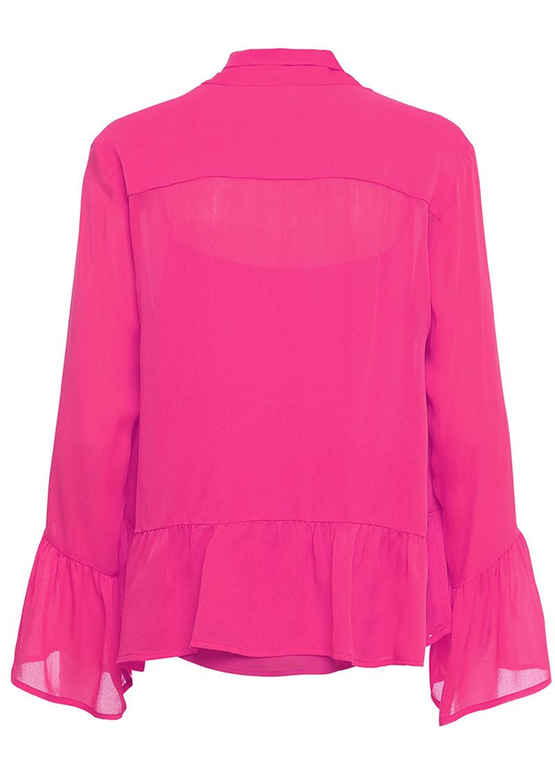CUSTOMMADE Pauline Silk Blouse - Pink Glow main image