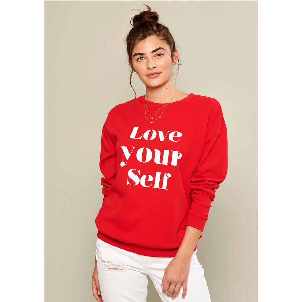 Alexa Love Yourself Sweater - Red