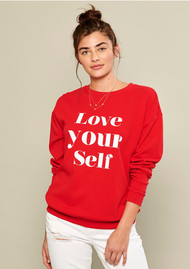 SOUTH PARADE Alexa Love Yourself Sweater - Red