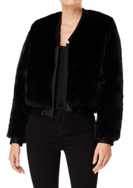 J Brand Ashbey Faux Fur Jacket - Black
