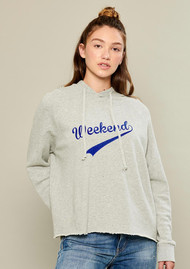SOUTH PARADE Weekend Hoodie - Grey & Blue