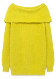 American Vintage Mitibird Bardot Jumper - Lemon