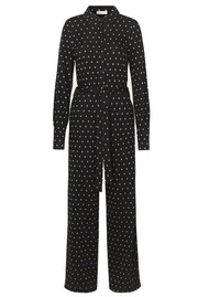 STINE GOYA Lana Polka Dot Jumpsuit - Gold Dots Black
