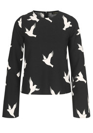 STINE GOYA Blair Top - Dove Black