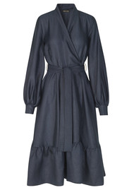 STINE GOYA Niki Wrap Dress - Midnight Blue