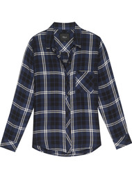 Rails Hunter Checked Shirt - Navy, Almond & Tinsel