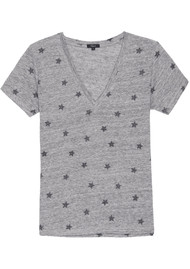 Rails Cara Tee - Heather Grey Stars